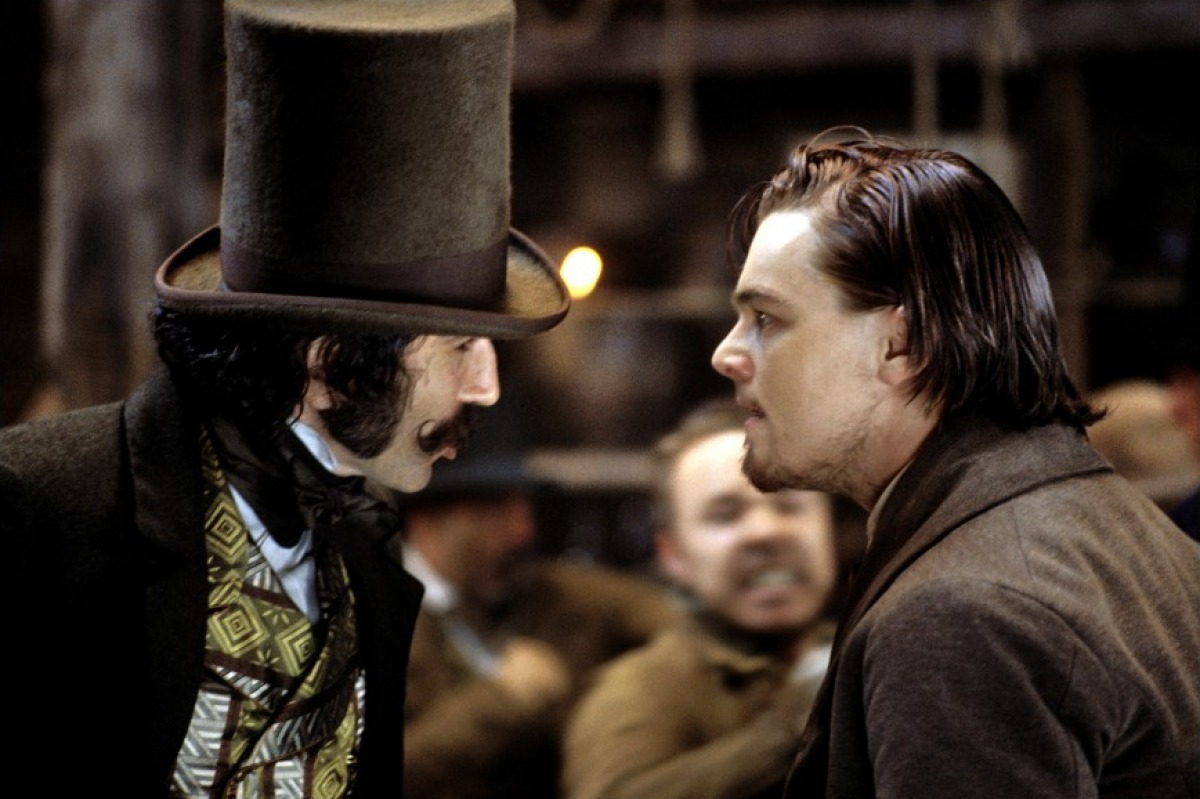 Leonardo DiCaprio en Daniel - Day Lewis in Gangs of New York (2002).
