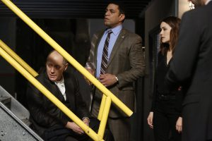The Blacklist: James Spader, Harry Lennix, Megan Boone (Photo by: Will Hart/NBC)